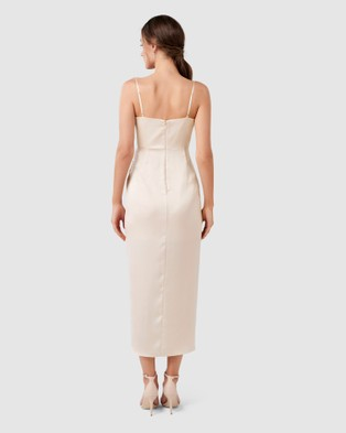 Forever New Holly Cowl Neck Midi Dress - Bridesmaid Dresses (Champagne)