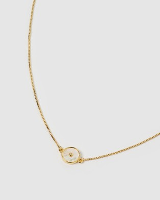 Arms Of Eve Saturn Gold and Mother Of Pearl Choker - Jewellery (Gold)