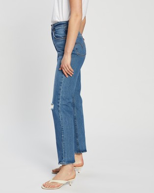 Levi's Ribcage Straight Ankle Jeans - Crop (Jive Beats)