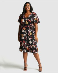 Estelle - Passion Flower Wrap Dress