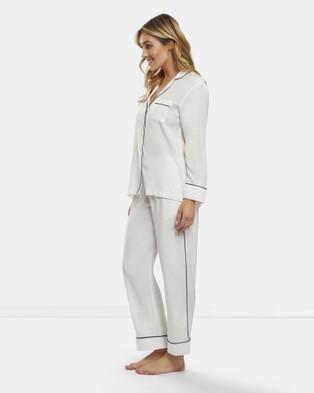 DREAM WITH ME Classic White Pyjama Set - Two-piece sets (White)