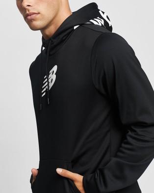 New Balance Graphic Tenacity Fleece Pullover Hoodie - Hoodies (Black)