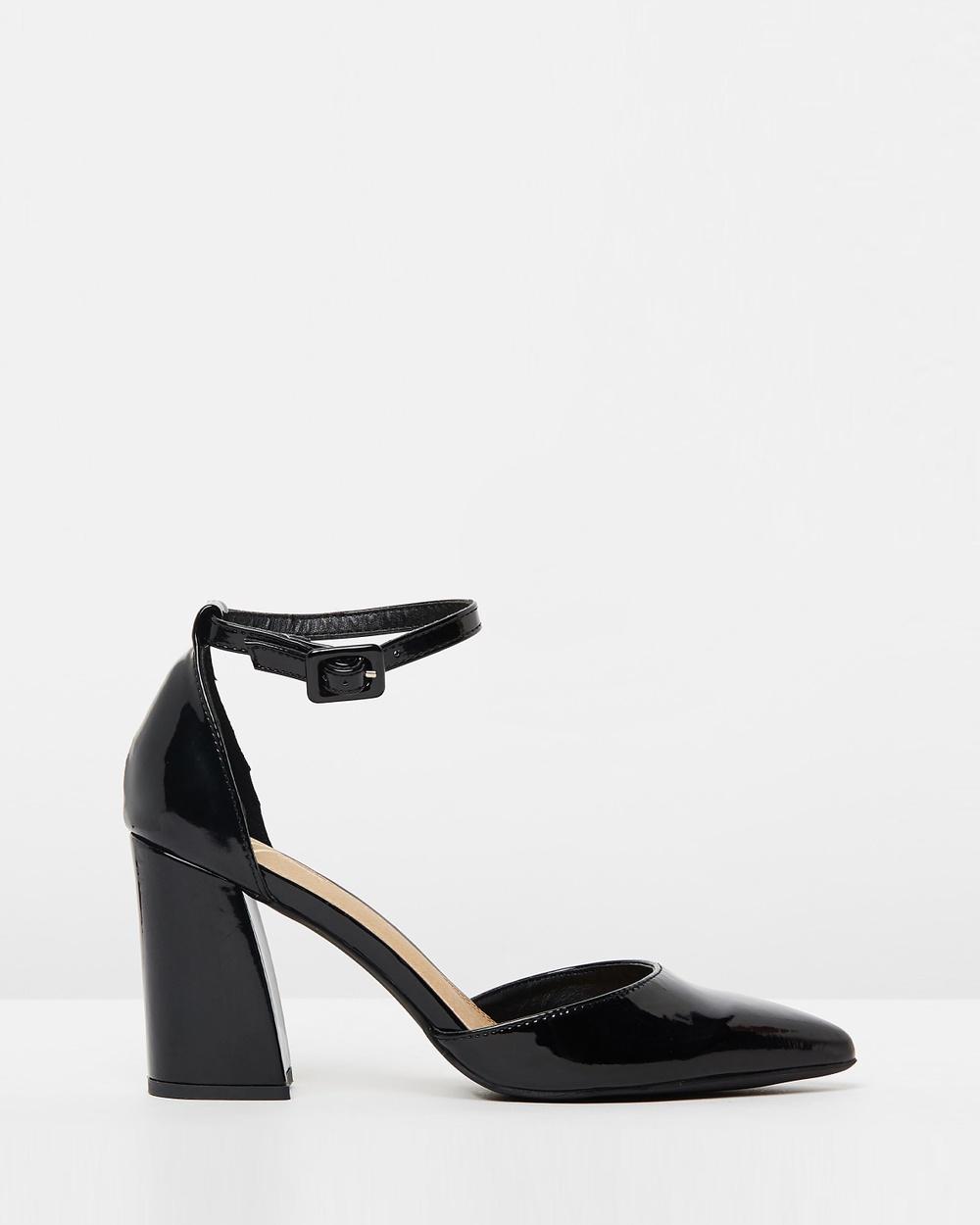 SPURR ICONIC EXCLUSIVE Terri Block Heels Heels Black Patent ICONIC EXCLUSIVE Terri Block Heels