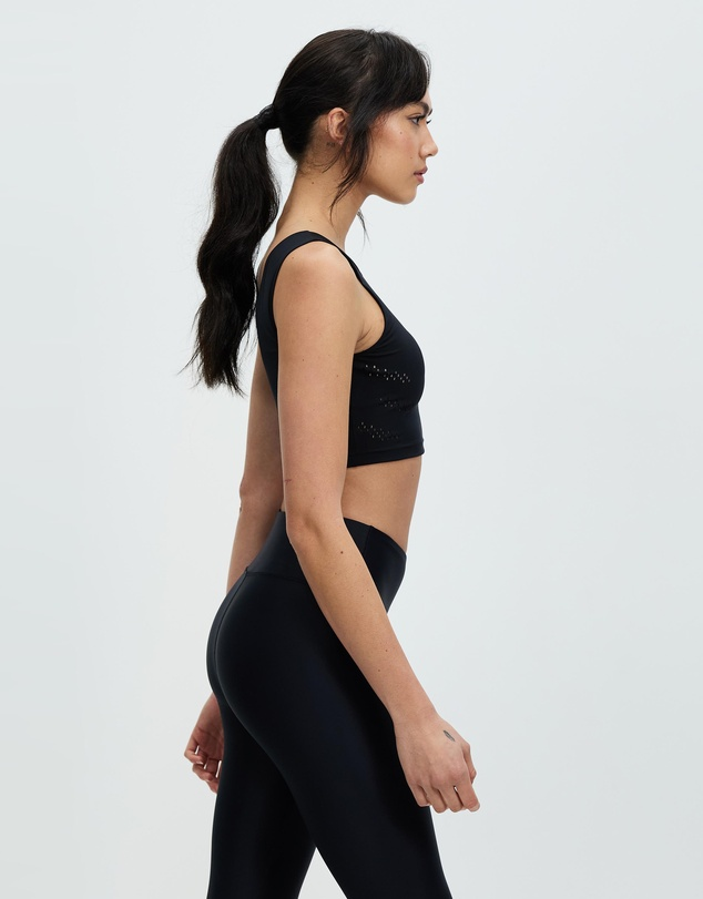 Women Perform Perforated Crop Top