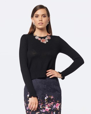Alannah Hill – The Finishing Touch Top – Tops (Black)