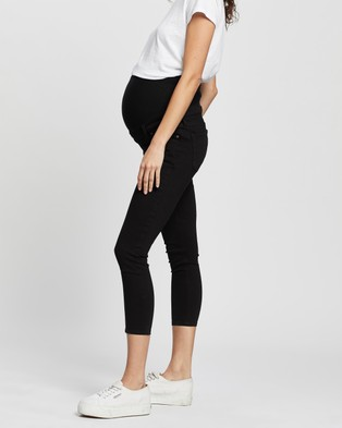 TOPSHOP Maternity Over The Bump Jamie Jeans - High-Waisted (Black)