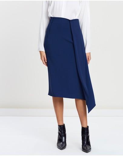 Carl Kapp Tawaret Skirt Cerulean Blue