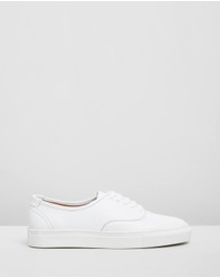 Double Oak Mills - Stacey Leather Sneakers