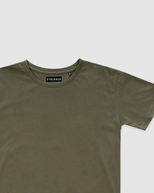 Stock & Co. - Stock Tee   Teens - T-Shirts & Singlets (OLIVE) Stock Tee - Teens