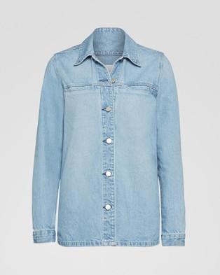 Nobody Denim Juncture Long Shirt Jacket - Denim jacket (Juncture)