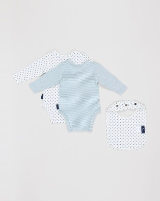 Pappe 3 Piece Nimmy Long Sleeve Bodysuit Set - All gift sets (Green )