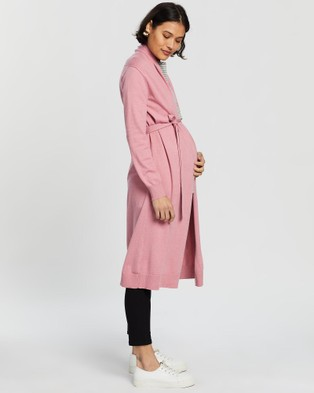 Angel Maternity - Long Cardigan Jumpers & Cardigans (Pink)