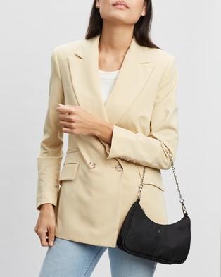 PETA AND JAIN Paloma Shoulder Bag - Clutches (Black Nylon)