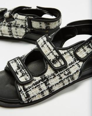 Atmos&Here Zane Tweed Sandals - Sandals (White Tweed)