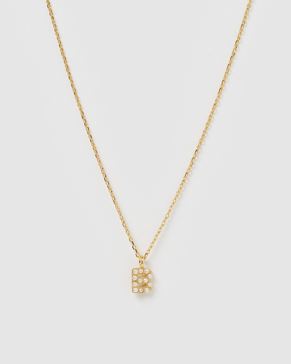 Izoa Pearl Letter B Necklace Gold Jewellery Gold
