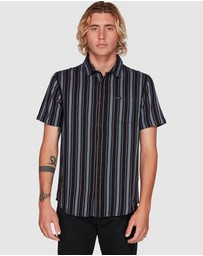 RVCA - Topper Stripe Short Sleeve Top
