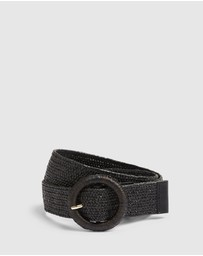 French Connection - Summer Straw Waist Belt