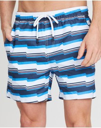 Staple Superior - Blurred Lines Swim Shorts