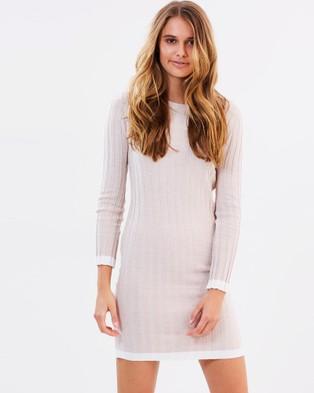 Ryder Label – Oliver Rib Dress – Dresses (Oatmeal)