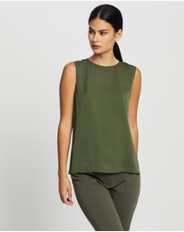 Theory - Straight Silk Shell Top