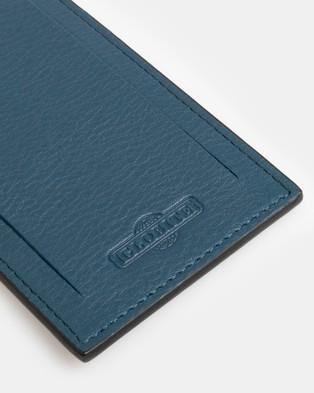 Globite Leather Luggage Identifier - Travel and Luggage (Blue)