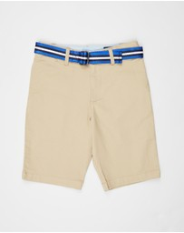 Polo Ralph Lauren - Short Stretch Tissue Chino Polo Shorts - Teens