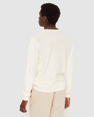 Jag Linen Textured Knit - Jumpers & Cardigans (white)