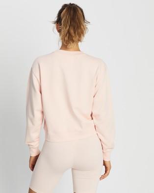 Les Girls Les Boys Shrunken Crew Neck With Zip Pocket - Sweats (Impatient Pink)