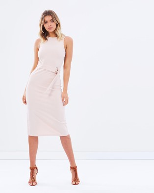 Atmos & Here – Voodoo Belted Knit Dress Nude