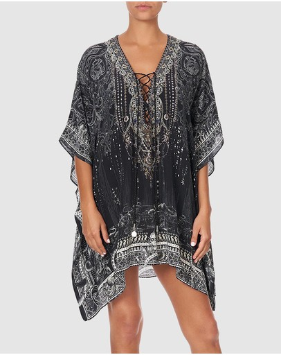 Camilla - Short Lace Up Kaftan