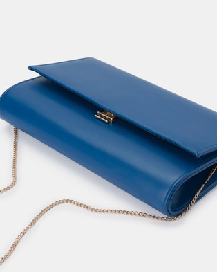 Olga Berg Madison Fold Over Clutch - Clutches (Blue)
