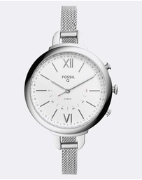 Fossil - Hybrid Smartwatch Q Annette Silver-Tone