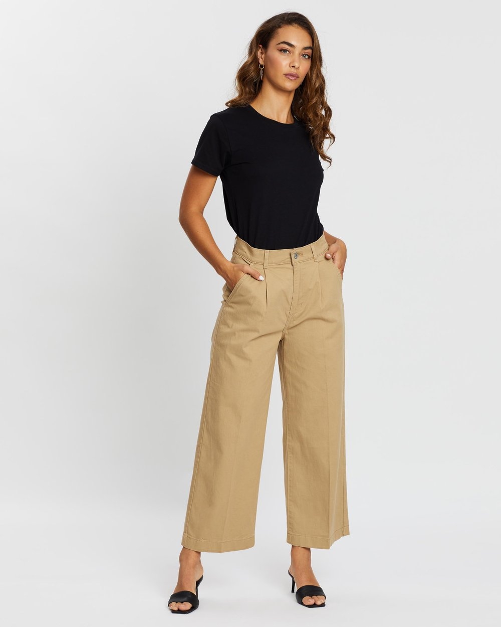 Pleated Wide Leg Chinos By Levi S Online The Iconic Australia