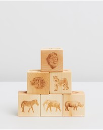 Noc Noc - African Animals Wooden Blocks