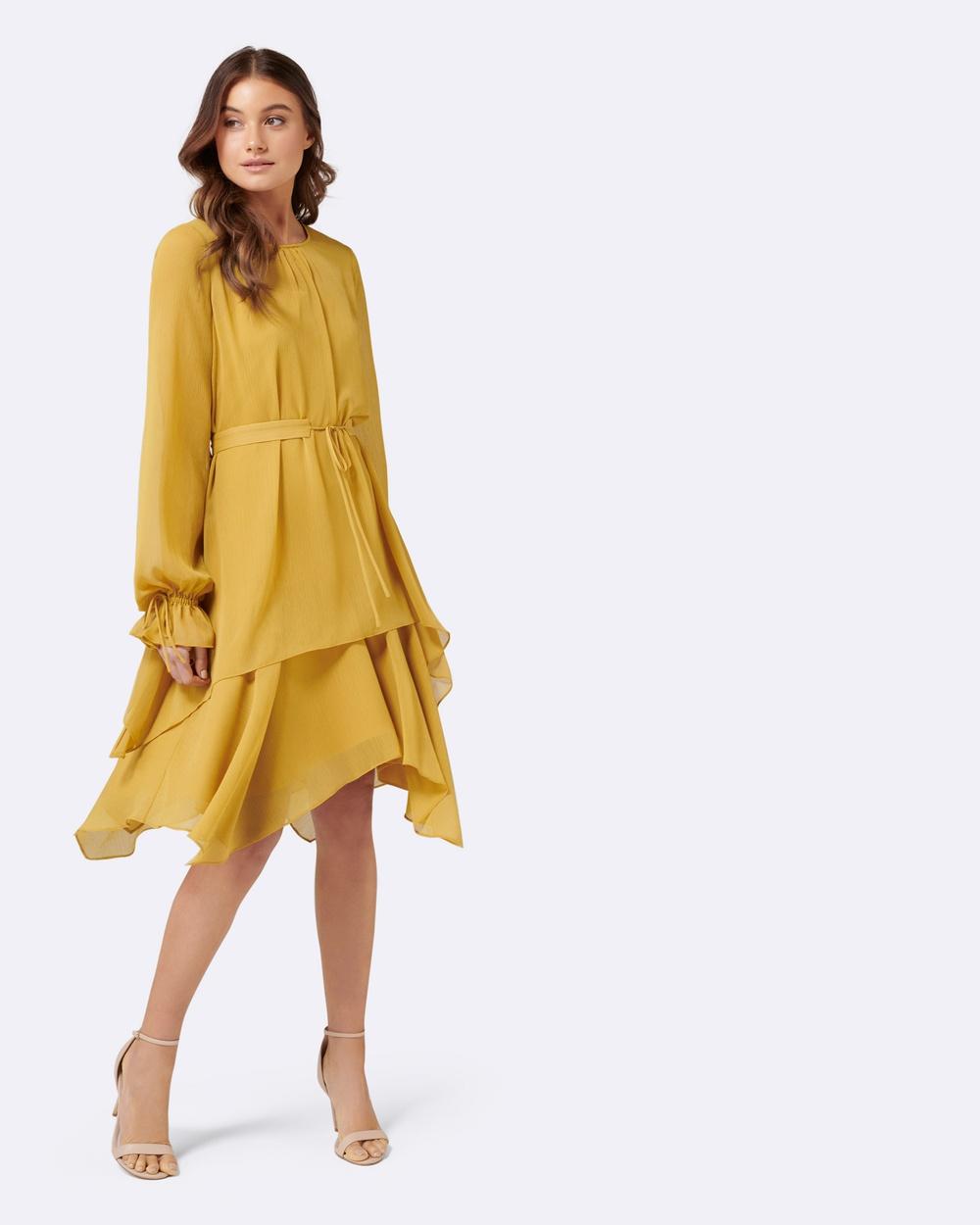 Forever New Designer Edit Ochre Maddy Layered Dress
