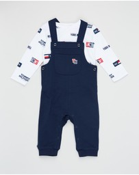 Tommy Hilfiger - Dungaree Flag Set - Babies