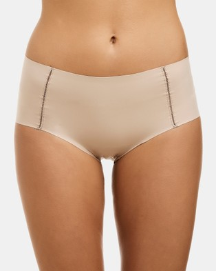 Love and Lustre Flats High Waisted Brief   2 Pack - Briefs (Nude)