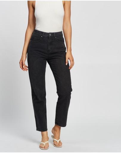 Cotton On Mom Jeans Stonewash Black