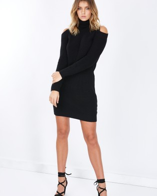 Tussah – Ohio Knitted Mini Dress – Dresses (Black)