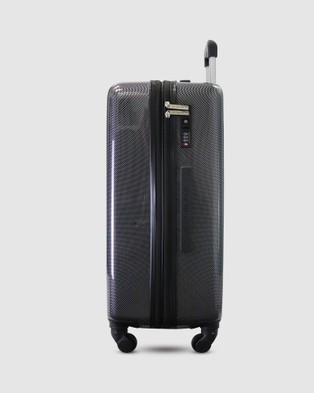 JETT BLACK Carbon Black Series Carry On Suitcase - Travel and Luggage (Black)