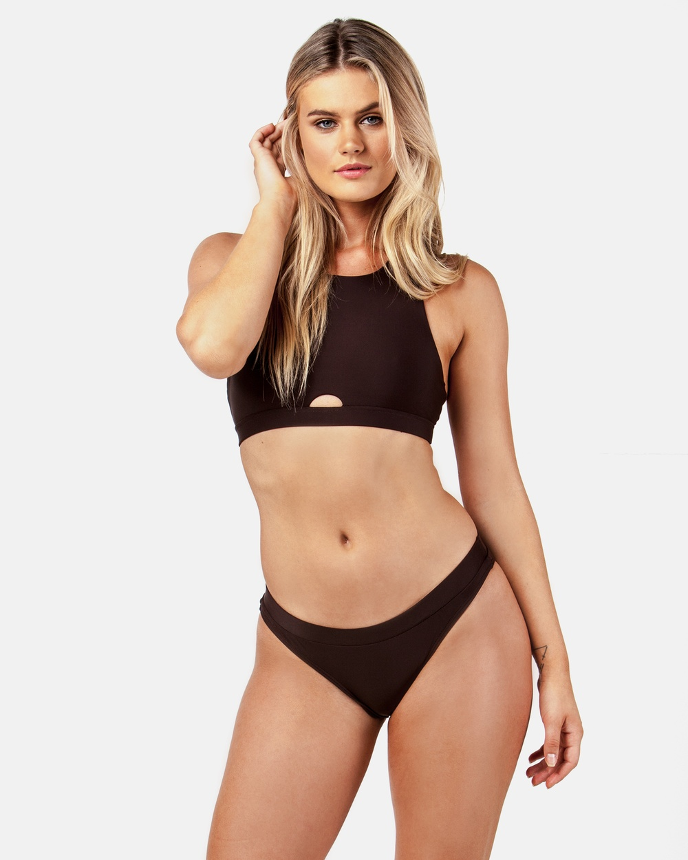 ONEBYONE Mary Kate Bikini Bottoms Bikini Bottoms Chocolate Mary Kate Bikini Bottoms