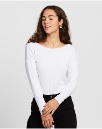 Atmos&Here - Chloe Cross Back Long Sleeve Tee