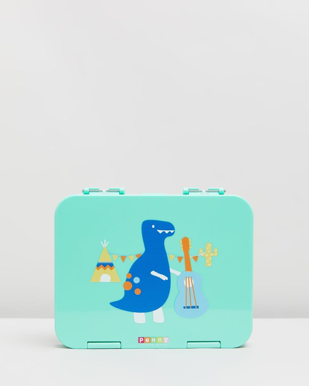 Penny Scallan ?Large Bento Box Home Dino Rock