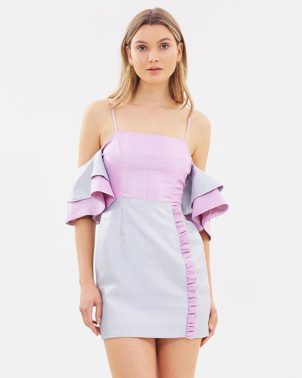 DELPHINE Pink & Grey It's All Mine Dress