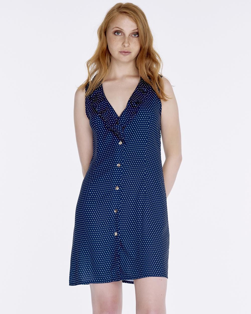 MAXTED Navy LA Dress