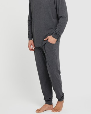 Bamboo Body Men's Chill Pants - Sleepwear (Charcoal)