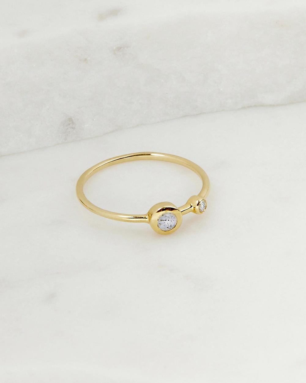 Luna Rae Solid Gold Stellar Ring Jewellery Gold