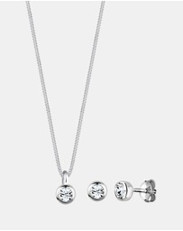 Elli Jewelry - Jewelry Set Basic Swarovski Crystals 925 Sterling Silver