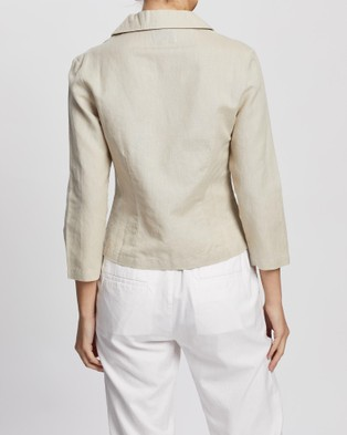KAJA Clothing Ebony Jacket - Blazers (Natural)