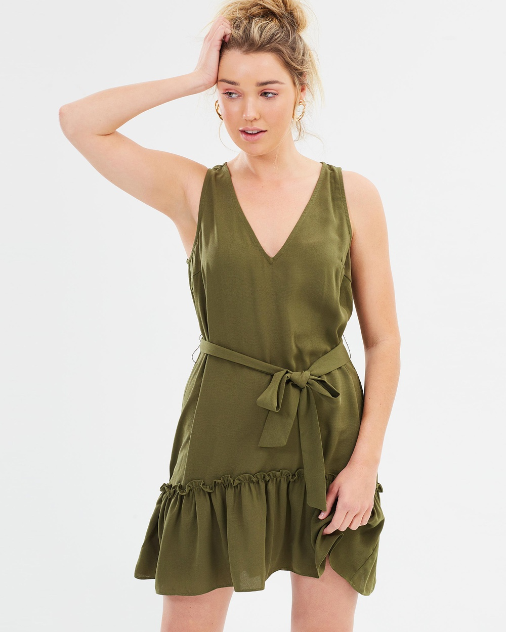 Dazie Vale V Neck Dress Dresses Khaki Vale V-Neck Dress